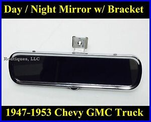 Chevy Gmc Pickup Truck Day Night Rear View Mirror W Bracket Inside