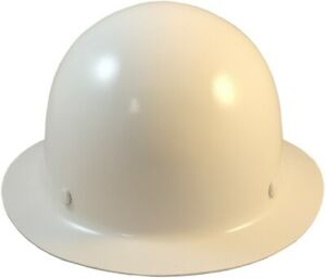 Msa Skullgard Full Brim Hard Hat With Fastrac Iii Ratchet Suspension White