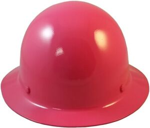 Msa Skullgard Full Brim Hard Hat With Fastrac Iii Ratchet Suspension Hot Pink