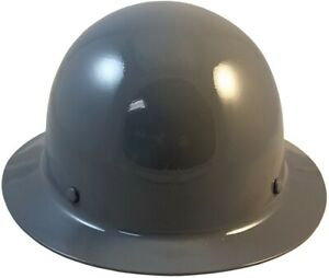 Msa Skullgard Full Brim Hard Hat With Fastrac Iii Ratchet Suspension Gray