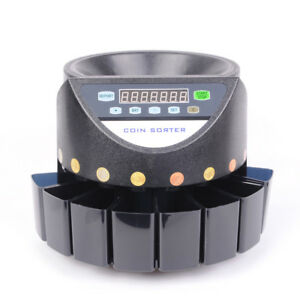 Pas Auto Euro Coin Counter Money Sorter Electric Cash Currency Counting Machine