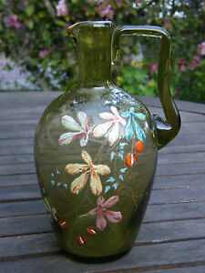 Pitcher Carafe Enamelled Legras