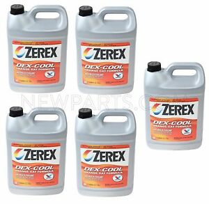 For Jaguar Land Rover 5 Gallons Engine Coolant Antifreeze Fluid Orange Zerex