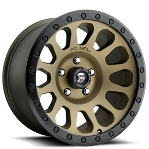 4ea set Off Road 18 Fuel Wheels D600 Vector Bronze Rims