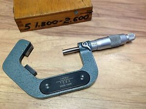 Nice Swiss Tesa V Micrometer Carbide Tipped 1 8 2 6 0001 5 Flute