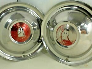 Vintage 1951 1952 Plymouth Hubcaps Wheel Covers 15 Inch Mopar Pair