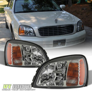 2000 2005 Cadillac Deville Headlights Headlamps Replacement 00 05 Set Left right