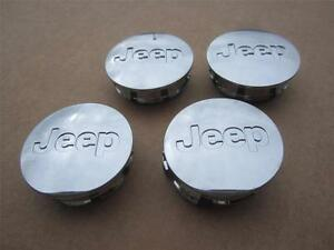 Set Of 4 Oem Wheel Center Cap Genuine Jeep For 18 Wheels 2 1 8 Chrome Caps