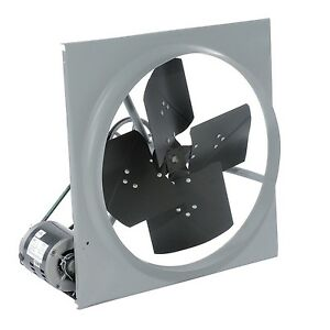 24 Exhaust Fan Belt Driven 3 270 Cfm 120 Volts 1 3 Hp 1 Phase