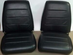 1968 Dodge Charger Seat Covers Black Front Buckets Upholstery 68 R T 68ksa10u