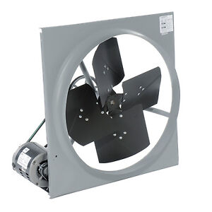 48 Exhaust Fan 21 500 Cfm Belt Driven 120 Volts 1 Hp 1 Ph 15 Amps