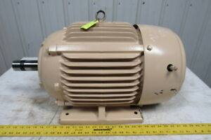 Emerson H30e2e 30 Hp 50 60hz Ac Electric Motor 1770 Rpm 3ph 286t Te Tested