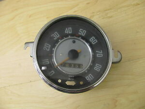Vintage Original Vw Volkswagen Beetle Type 1 Speedometer W O Fuel Gauge