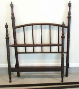 Antique Simmons Dark Iron Metal Twin Bed Headboard Footboard Rails Late 1800 S