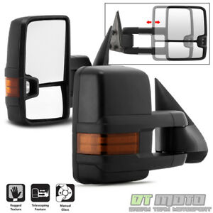 G2 Left Right 99 06 Chevy Silverado Sierra Telescoping Manual Tow Side Mirrors