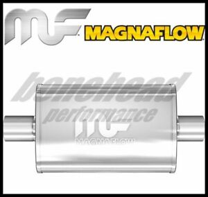 Magnaflow 11215 Performance Stainless Oval Muffler 2 25 Inlet Outlet Exhaust