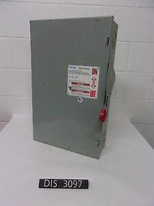 Eatoncutler Hammer 240 Volt 200 Amp Non Fused Disconnect Safety Switch dis3097