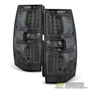 Smoke 2007 2014 Chevy Suburban Tahoe Yukon Led Tail Lights Brake Lamps Pair Set