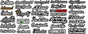 Jdm Car Sticker Decal Pack Of 32 Mega Lot Tuner Low Funny Megasc