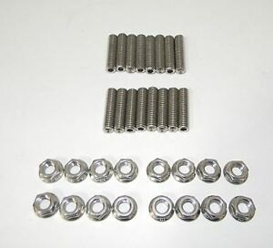 Ford Fe 390 428 Stainless Steel Exhaust Manifold Studs 2 Long New