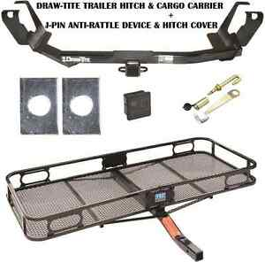 05 07 Chrysler Town Country Trailer Hitch Cargo Basket Carrier Silent Pin