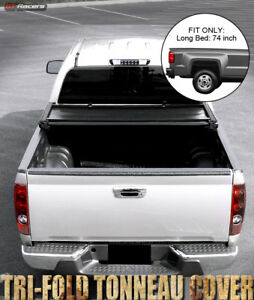 For 2004 2012 Chevy Colorado gmc Canyon 6 Ft 72 Bed Tri fold Soft Tonneau Cover