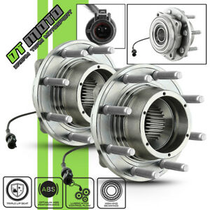 Pair 2 515081 05 10 Ford F250 F350 4wd Front Wheel Hub Bearings Assembly W Abs