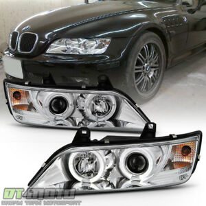 1996 2002 Bmw Z3 Led Dual Halo Projector Headlights Lamps Lights Left right Pair