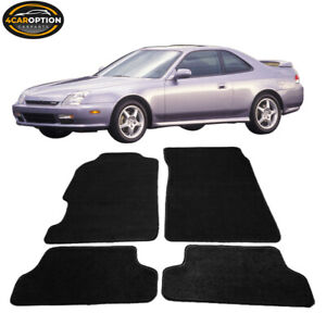 Fits 97 01 Honda Prelude 2dr Floor Mats Carpet Front Rear Nylon Black 4pc