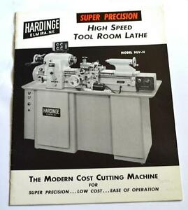 Hardinge Hlv h High Speed Tool Room Lathe Brochure