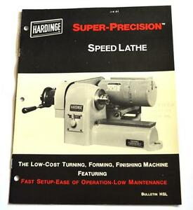 Hardinge Hsl Super Precision Speed Lathe Brochure