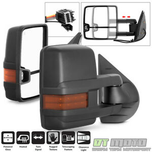 New Style 2007 2013 Chevy Silverado Sierra Tow Power Heated Led Signal Mirrors