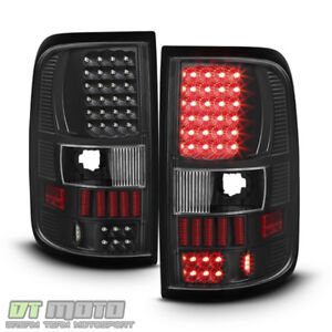 Blk 2004 2008 Ford F150 F 150 Pickup Led Tail Lights Lamps Left Right 04 08 Set