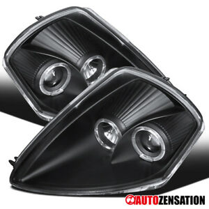 For 2000 2005 Mitsubishi Eclipse Led Dual Halo Black Projector Headlights Lamps