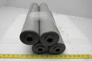 19 1 4 l X 3 1 2 dia Conveyor Rollers Rigid Pvc W 1 Dia Axle Hole Lot Of 4