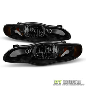 Black Smoke 2000 2005 Chevy Monte Carlo Headlights Aftermarket 00 05 Left right