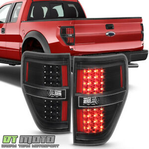 Black 2009 2014 Ford F150 F 150 Led Tail Lights Brake Lamps Left right 09 14