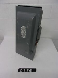 Siemens 240 Volt 100 Amp Fused Disconnect Safety Switch dis3161