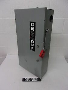 Ge 600 Volt 100 Amp Non Fused Disconnect Safety Switch dis3166
