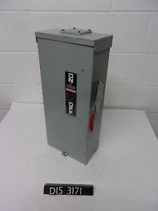 Ge 240 Volt 100 Amp Fused Disconnect Safety Switch dis3171