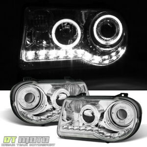 2005 2010 Chrysler 300c Led Halo Projector Headlights 06 09 Headlamps Left right