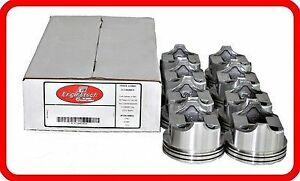 68 80 Oldsmobile Gm 350 5 7l Ohv V8 8 Dish Top Pistons Std 030 040 060