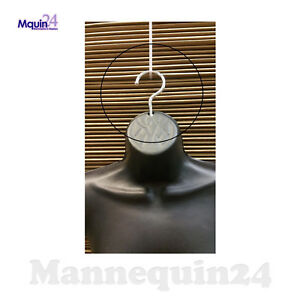 5 Chrome Hooks For Plastic Hanging Mannequins Bent To Hang Forms Straight