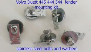 Volvo Duett Pv544 Pv444 444 544 Fender Mounting Bolts And Nuts 1954 1966 Set Of5