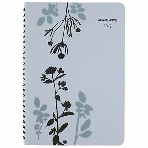 At a glance Weekly Monthly Appointment Book Planner 2017 Wirebound 5 X 8