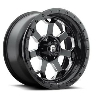 Set 4 new Off Road 18 Fuel Wheels D563 Savage Gloss Black Rims