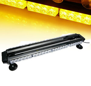 26 5 Amber 54 Led Traffic Advisor Double Side Emergency Warn Flash Strobe Light