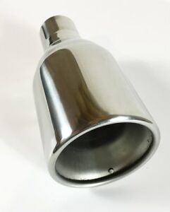 Exhaust Tip 4 00 Dia Od X 10 00 Long 2 25 Inlet Wdw40010 225 Ss Double Wall S