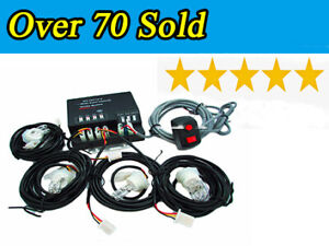 Hide a way 120w 4 White Hid Bulbs Emergency Hazard Flash Strobe Lights Kit