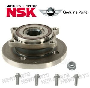 For Mini Cooper Front Axle Bearing Hub Assy 4 Bolts Axle Nut Kit Oem Oes